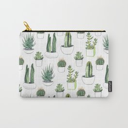 watercolour cacti and succulent Carry-All Pouch