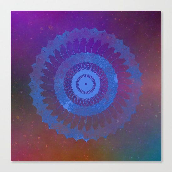 Technicolor Cosmos Blue Canvas Print