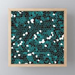 Teal Green Polycamo Framed Mini Art Print