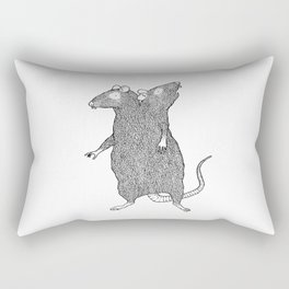 Two Headed Rat, I Love You Rectangular Pillow