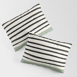 Sage Green x Stripes Pillow Sham