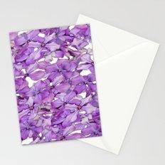 Purple Honesty Flowers Stationery Cards