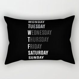 Black WFT Week Rectangular Pillow