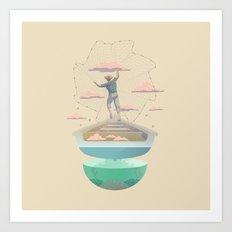 Clouds fisherman Art Print