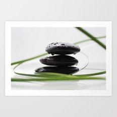 spa stones Art Print