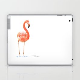"""Just Peachy"" - 5"" x 7"" acrylic painting of a Flamingo by Teresa Thompson Laptop & iPad Skin"