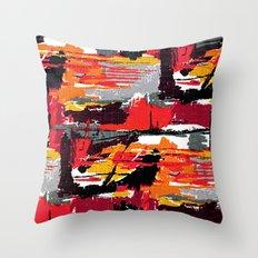 Mid-century pattern Throw Pillow