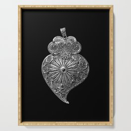 Heart of Viana-Portuguese filigree-Jewellery Serving Tray
