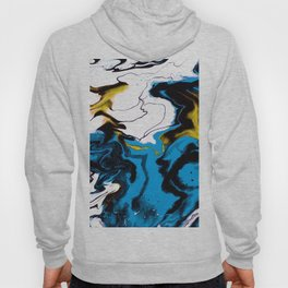 Dreamscape 01 in Blue, White & Gold Hoody