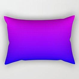 Fuchsia/Violet/Blue Ombre Rectangular Pillow