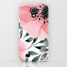 Big Watercolor Flowers Galaxy S4 Slim Case