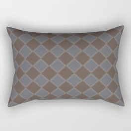 Primitive Tudor Style Diamond Pattern Rectangular Pillow