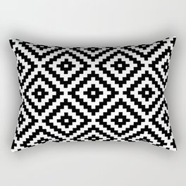 Aztec Block Symbol Ptn BW I Rectangular Pillow