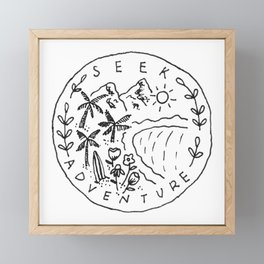 Seek Adventure Framed Mini Art Print