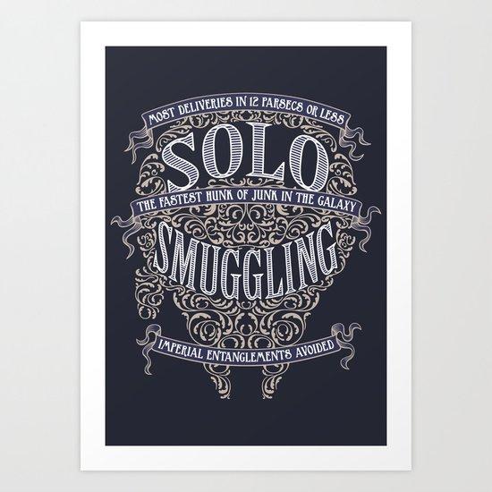 Solo Smuggling Art Print