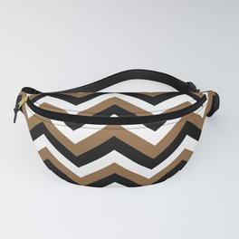 Brown White and Black Chevrons Fanny Pack