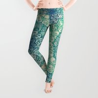 and Leggings featuring Emerald Doodle by micklyn