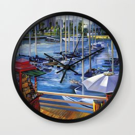 A View from Shoreline Village Wall Clock