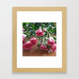 ROSES ARE LOVE Framed Art Print