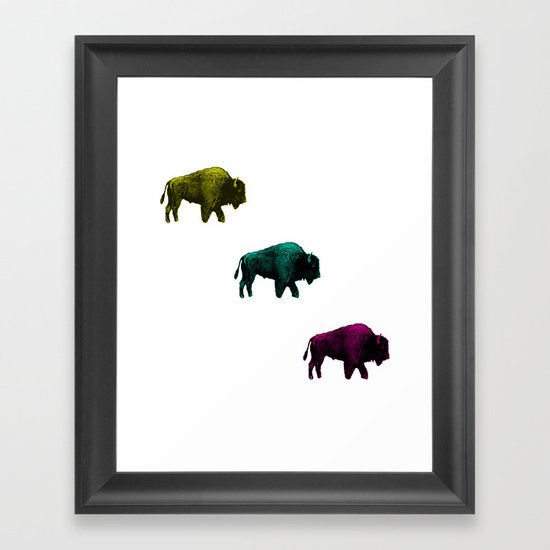 Where the Buffalo roam Framed Art Print