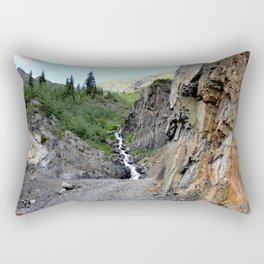 The Silver Crown Mine - Rounding a Bend in the Old Wagon Road Rectangular Pillow