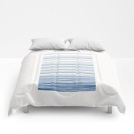 Linear Gradation - Sapphire Comforters
