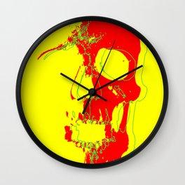 Skull - Red Wall Clock