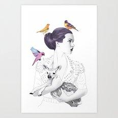 Princess Spike Art Print