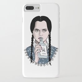Stay creepy - Wednesday Addams illustration iPhone Case