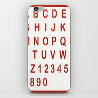 alphabet iPhone & iPod Skins featuring Alphabet by Sébastien BOUVIER