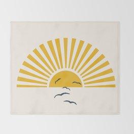Minimalistic Summer I Throw Blanket