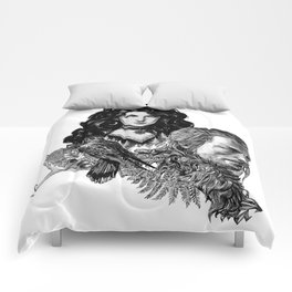 Geralt and Yennefer-Witcher Comforters