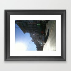 held up by cords Chinatown Framed Art Print