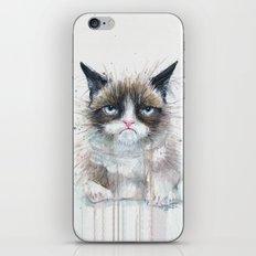 Grumpy Kitty Cat iPhone & iPod Skin