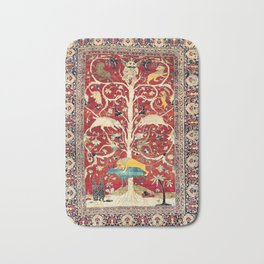 Silk Heriz Azerbaijan Northwest Persian Rug Print Bath Mat