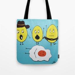Cowboy funny eggs Tote Bag