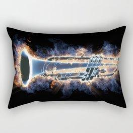 Fire trumpet in concert Rectangular Pillow