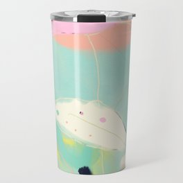 minimal floral abstract art Travel Mug