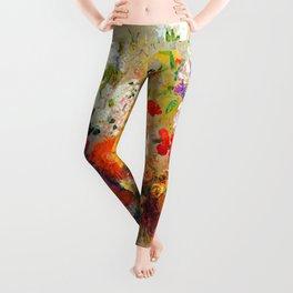 Odilon Redon Flowers Leggings