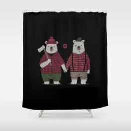 My Bear Valentine Shower Curtain