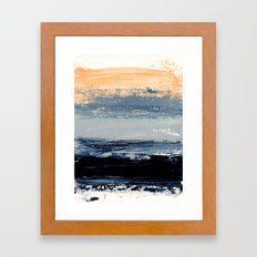 abstract minimalist landscape 5 Framed Art Print