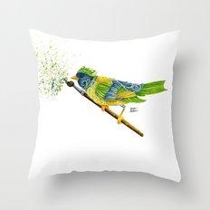 Feathers & Flecks Throw Pillow
