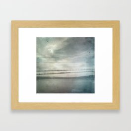 On The Wire Framed Art Print