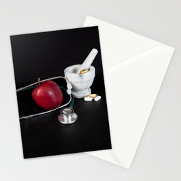 Healthy eating and lifestyle Stationery Cards