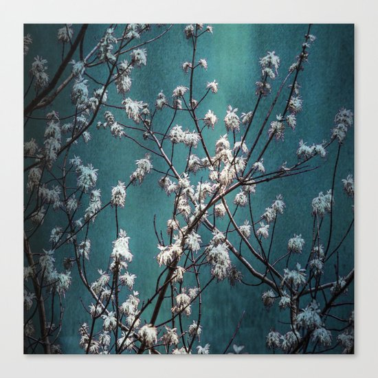 Snowflakes Tree Canvas Print