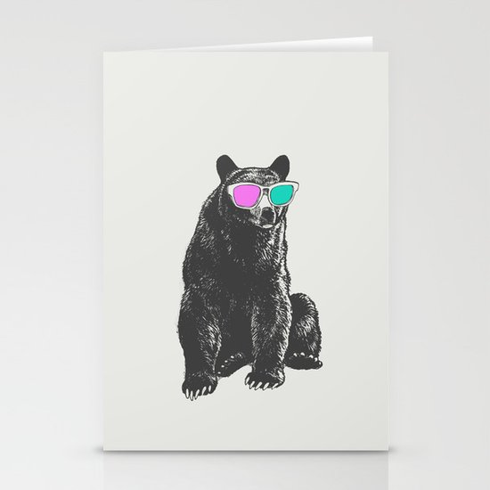 3D is Un-bear-able  Stationery Cards