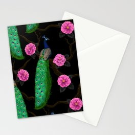 Night peacock garden    Stationery Cards