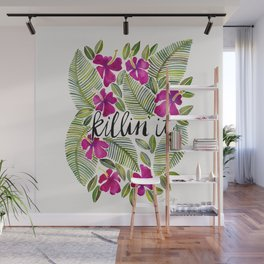 Killin' It – Tropical Pink Wall Mural