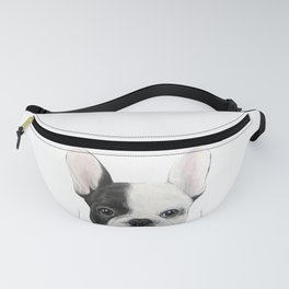 French Bulldog Dog illustration original painting print Fanny Pack