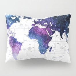 ALLOVER THE WORLD-Galaxy map Pillow Sham